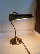 More details for vintage bhs brass bankers lamp desk lamp swan neck