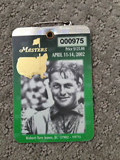 2002 Masters Patron Badge Tiger Woods Augusta National Golf Club