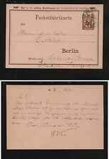 Germany local postal card used 1895