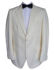 "100% Wool Cream Tuxedo Jacket 42"" Long"