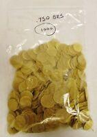 """1000 3/4"""" (.75"""") 19mm Brass Pipe Screen Tobacco Smoke Screen Free Shipping"""
