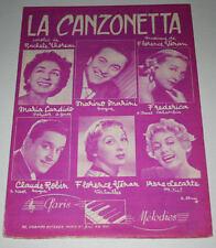 Partition vintage sheet music MARINO MARINI : La Canzonetta * 50's