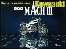 KAWASAKI Brochure H1 500 Mach III 1969 Sales Catalog REPRO