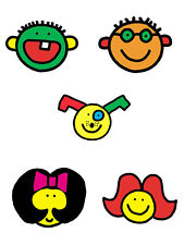 Face Todd Parr Friends 25 Wallies Bright Funny x Stickers Decals Cutouts Border