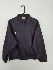 VTG BLUE PUMA BRIGHT BOLD ZIPUP ATHLETIC SPORTS OUTDOOR RAIN JACKET CAGOULE UK M