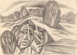 """Anatoliy Chudinovskikh Expressionist Bleistift Papier """"Krach"""" 29x21 cm"""