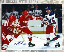 Boris Mikhailov Team USSR 1980 Olympic with USA team Auction Autographed 8x10