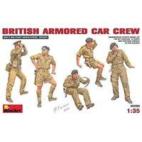 Miniart 1:35 Scale British Armoured Car Crew Plastic Model Kit - 135