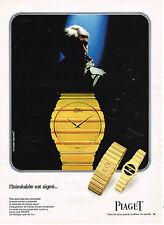 PUBLICITE ADVERTISING 104  1982  PIAGET   montre homme SPORT