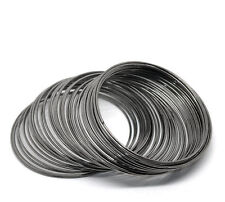Memory wire 60 coils gun metal for bangle bracelet loops for jewellery