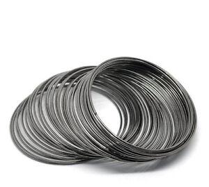 60mm diameterMemory wire 60 coils gun metal for bangle bracelet loops, jewellery
