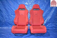 HONDA CIVIC TYPE R EP3 OEM RED RECARO SEATS DRIVER+PASSAENGER JDM K20A CTR #1