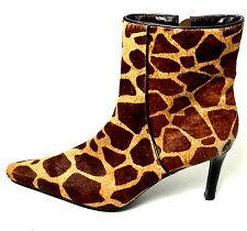 Ralph Lauren Medora Giraffe Print Calf Hair Ankle Bootie  Women's Size 8 Usa.