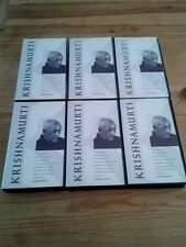 KRISHNAMURTI VHS SECAM FRENCH / ENGLISH LOT DE 6 /PACK OF 6
