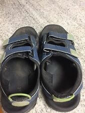 boys girls unisex size 4 LL Bean Cool wave sandals navy green