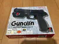 Sony PlayStation 1 GUN Controller GUNCON namco with BOX and Manual
