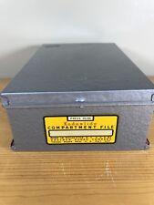 Kodaslide Compartment File Kodak Slides Metal Box Slide Holder Storage Case