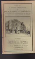 Bowes & Bowes Catalog Books New & Secondhand October 1938