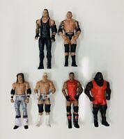 WWE LOT OF 6 BATTLE PACK Wrestling Action Figures BASIC MATTEL Mint Condition!!
