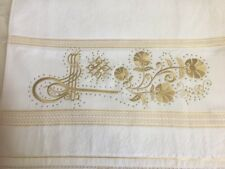 Towel Turkish hand face Lace gift holidays white embroidered golden Cotton