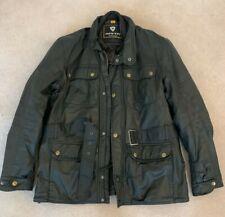 Rev'it Melville Textile Jacket Black XL Waterproof Wax Coated Cotton Jacket