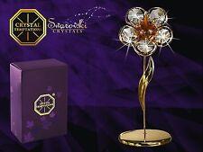 4517+4528 Gold Blume Flower Swarovski Steine Kristall 24 Karat Crystal 12,5cm