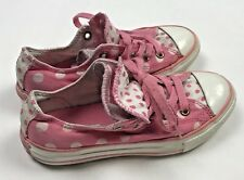 Converse All Star Chuck Taylor Low Top Sneakers Shoes Girls 13 Pink Polka Dot