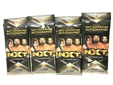 2017 TOPPS WWE  NXT  FAT PACKS   ( 4 PACK LOT )