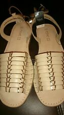 NEXT beige/gold gladiator style sandals Size 6 BRAND NEW