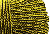 Black Yellow Braided polypropylene rope cord yacht boat sailing climbing 6mm