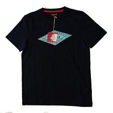 T-shirt Marlboro Classics MCS uomo blu manica corta con stampa M-T-02024