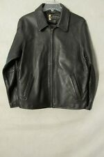 S6437 Eddie Bauer Legends Women's Large Black Full Zip Leather Stine Jacket