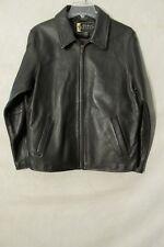 S6437 Eddie Bauer Legends Women's Large Black Full Zip Leather Stine Jacket