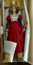 """1988 Franklin Mint Heirloom FHD Queen of Hearts 21"""" Porcelain Doll Handcrafted"""