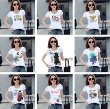 Camiseta Tops Verano De Mujer Mangas Cortas Estampada Camisa informal Blusa Chicas Camiseta