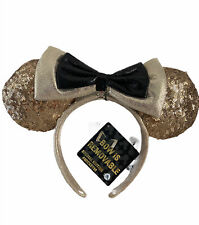 NWT! Disney Parks Mickey Mouse Ears Headband Gold 90th Birthday Celebration.