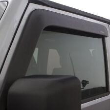 For 2007-2018 Jeep Wrangler Window Deflectors Low Profile Ventvisor Matte Black