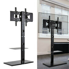 "Universal 32-65"" Floor Tv Stand Mount Strong Metal Base Media Storage Rack Shelf"