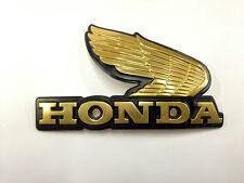 Honda Wing Metal Gas Tank Emblem Gold Right Side