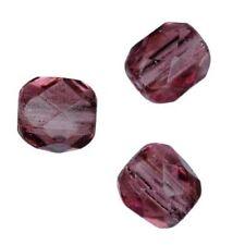 25 Perles Facettes cristal de boheme 6mm  AMETHYST AMETHYSTE