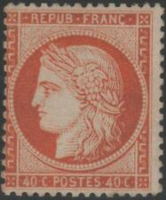 "FRANCE STAMP TIMBRE N° 38 "" CERES 40c ORANGE FONCE 1875 "" NEUF xx TB J957"