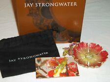 Jay Strongwater Swarovski Enamel Bright Flower Trinket Dish Ring Holder ~ Cc