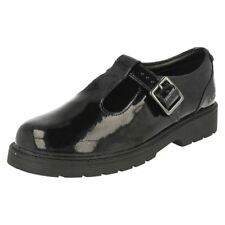 Clarks Leather Upper Shoes for Girls Buckle Wide