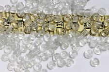 3/0 Vintage French Glass Seed Beads Crystal Clear Crafts Jewelry /1oz
