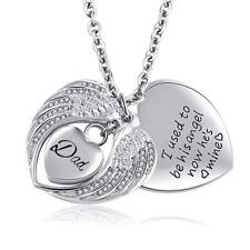 Korliya Angel Wings Heart Love Urn Necklace for Ashes Memorial Keepsake Pendant