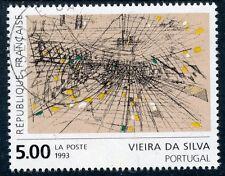 STAMP / TIMBRE FRANCE OBLITERE N° 2835 TABLEAU ART /  VIEIRA DA SILVA