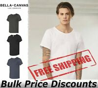 BELLA + CANVAS Mens Short Sleeve Raw Neck Tee Shirt 3014 up to 2XL