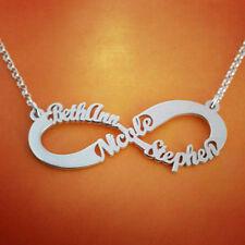 Personalizado 3 nombres Infinity Collar, Personalizado Infinito Collar Con 3 nombres