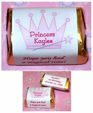 60 PRINCESS BIRTHDAY PARTY FAVORS CANDY WRAPPER LABELS