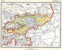 Map 1928 Soviet Cec Kyrgyz Autonomous Region Large Replica Canvas Art Print